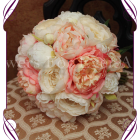 image of artificial coral peony bouquet
