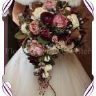 image of large silk cascading crescent style bouquet