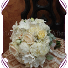 image of classic silk posy peony roses\ silk pastel bouquet