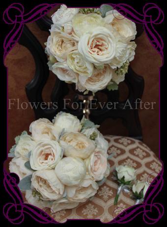silk bridal bouquet, pastel bridal bouquet, vintage wedding flowers, silk peony bouquet, blush bridal bouquet