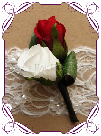 artificial rose boutonierre