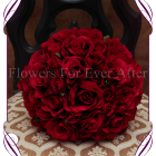 silk faux rose bridal bouquet
