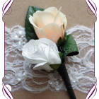 artificial rose boutonierre