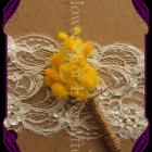 silk wattle groomsmen boutonierre button