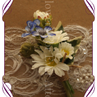 silk daisy and blue wa flower rustic wedding groom boutonierre