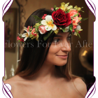 Silk Artificial Flower crown halo