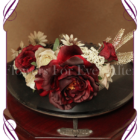 vintage floral crown / floral headpiece ideal for weddings and other special occasions. With cream and deep burgundy silk artificial flowers, this flower headpiece can be worn in many different ways