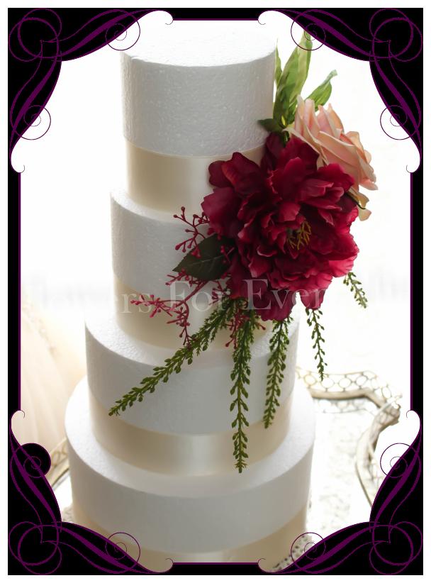 Wedding Cake Decorations Silk Flowers : Melisandre Cake Topper / Decoration Flowers For Ever ...