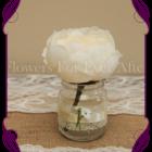 Cream peony silk artificial table decoration
